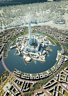 DUBAI Mohammed Bin Rashed Gardens NEVER BUILT SkyscraperPage is part of Futuristic architecture - In order to reach the degree of other important Green Architecture, Futuristic Architecture, Amazing Architecture, Architecture Design, Chinese Architecture, Fantasy City, Fantasy Places, Futuristic City, Futuristic Design
