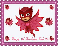 PJ MASKS 4 Owlette Edible Cake Topper