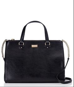 Kate Spade New York Bristol Drive Loden Black Leather Convertible Satchel Bag #katespade #Satchel