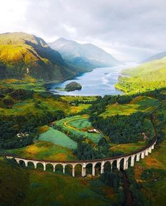 "Spectacular Scenery of ""Harry Potter Bridge"" or the Glenfinnan Viaduct which is real name. Located in the West Highland Line of Glenfinnan within Inverness-shire, Scotland Great Britain"