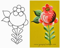 Atelier Gina Pafiadache: Rosinha em Bauernmalerei