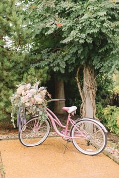 Pink bike: http://www.stylemepretty.com/iowa-weddings/2015/04/03/whimsical-countryside-wedding/ | Photography: Aly Caroll - http://www.alycarroll.com/