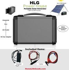 Portable Solar AC/DC Water Resistant Generators from HomeLifeGoods.com - HomeLifeGoods