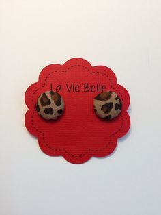 Small Animal Leopard Print Fabric Earring by LaVieBelle on Etsy, $3.00