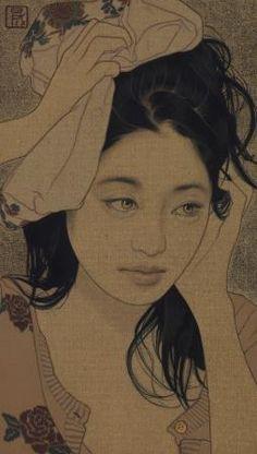 ●● Art of Ikenaga Yasunari ●● Japanese Illustration, Illustration Art, Tattoo Aquarelle, Art Occidental, Art Chinois, Geisha, Art Japonais, Japanese Painting, Art Moderne