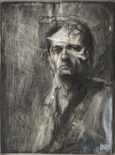 View Self portrait by Frank Auerbach on artnet. Browse upcoming and past auction lots by Frank Auerbach. Frank Auerbach, Self Portrait Drawing, Portrait Art, Self Portraits, Chiaroscuro, Life Drawing, Painting & Drawing, Painting Prints, Tate Britain