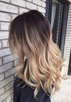 Stunning Blonde Balayage Ombre on Brown Hair 2017