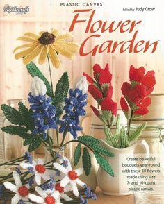 Flower Garden Plastic Canvas Craft Book