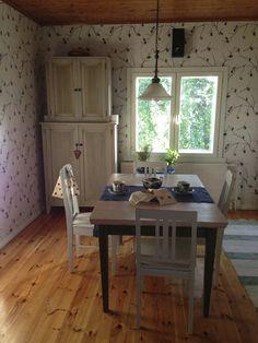 Tapettitehdas Pihlgren ja Ritola Oy - Käpy Dining Table, Kitchen, Furniture, Home Decor, Cooking, Decoration Home, Room Decor, Dinner Table, Kitchens
