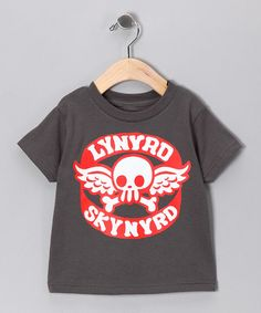 Another great find on #zulily! Charcoal 'Lynyrd Skynyrd' Skull Tee - Toddler & Kids #zulilyfinds