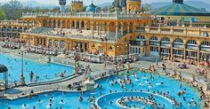Banhos termais Széchenyi | Hungria #Budapeste #Hungria #europa #viagem