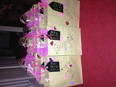 Handmade and personalised hen party bags! Hen Party Favours, Hen Party Bags, Hen Party Gifts, Party Packs, Hen Night Ideas, Hens Night, Hen Ideas, Bridesmaid Duties, Bridesmaids
