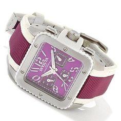 617-835 - Invicta Women's Cuadro Quartz Stainless Steel Case Strap Watch