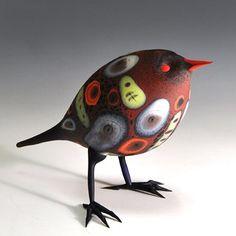 Multi-Petalled Red Bird by Shane Fero.