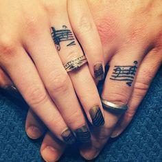 Musical Wedding Band Tattoo.
