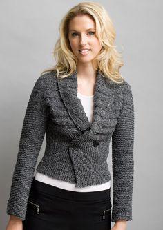 Free Knitting Patterns: Knit Boutique Yarn Store - Reversable Wrap Jacket  Wear as a sweater or turn it  over to wear as a bolero!!
