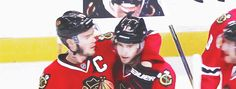5/11/14 Wild @ Blackhawks, WCSF Game 5: Peter Regin gets a star and some weird dude babbling sweet nothings into his ear.  (Hahaha, if you want great gifs with great commentary, check out darthtulip.tumblr.com)