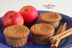 Apple Cinnamon Muffins:      1½ C almond flour;     ½ t baking soda;     1 t cinnamon;     pinch of salt;     ½ C apple sauce, unsweetened;     1 teaspoon apple cider vinegar;     1 egg;     1 t vanilla extract; 1 T raw honey (recipe says makes 5, I got 6)