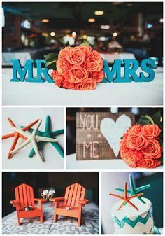 Wedding Decor | Little Details | Orange & Teal | Simply Radiant Weddings | Veronica Bolinger