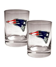 Great American Products New England Patriots Rocks Glass - Set of Two 5d131de43