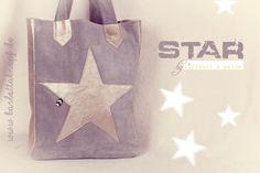 Star, lillesol & Pelle Kombi aus grauen Velourleder und goldenem Ziegenleder ist spannend