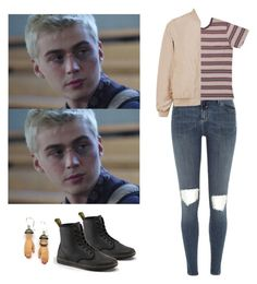 """Alex Standall requested set - 13 reasons why / 13rw"" by shadyannon ❤ liked on Polyvore featuring River Island, Margaux Lange and Dr. Martens"