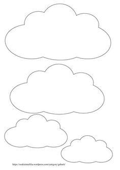 molde nuvem para imprimir pesquisa google little george