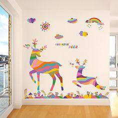 Dieren / Botanisch / Romantiek / Stilleven / Mode / Bloemen / Fantasie Wall Stickers Vliegtuig Muurstickers , PVC60x90x 0.2cm 2016 – €5.87