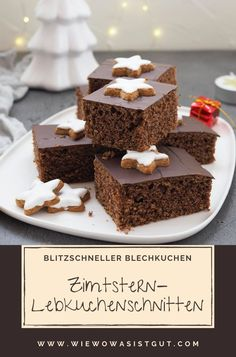 Ruckzuck Zimtstern-Lebkuchenschnitten vom Blech - Food (Advertising) In the Christmas season you should definitely prepare these delicious, juicy Zimtstern gingerbread slices. In the new Thermomix® TM Blog Food, Food Blogs, Delicious Cookie Recipes, Yummy Cookies, Pastry Recipes, Cake Recipes, Spice Bread, Maila, Food Advertising