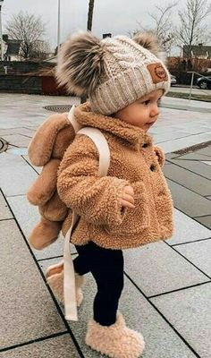 Cute Baby Girl Outfits, Cute Baby Clothes, Boy Outfits, Winter Baby Clothes, Cute Kids, Cute Babies, Baby Kids, Baby Girl Fashion, Kids Fashion