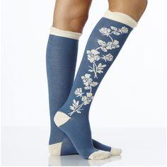 PACT Women's Denim Bramble Knee Sock. Responsibly made super soft organic…