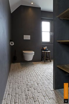 small laundry room is enormously important for your home. Whether you pick the upstairs bathroom remodel or dyi bathroom remodel, you will create the best bathroom renovations for your own life. Small Dark Bathroom, Modern Small Bathrooms, Small Tub, White Bathroom Tiles, Bathroom Layout, White Master Bathroom, Bathroom Flooring, Industrial Bathroom Design, Rustic Bathroom Designs