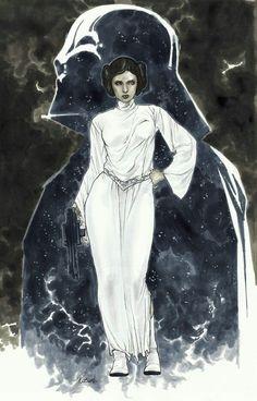 Darth Vader and Leia Organa