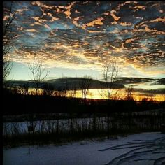 Grand Blanc, Michigan sunset