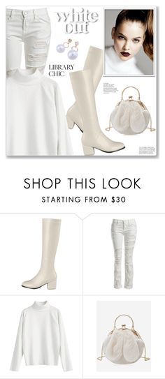 """""""White Out Casual Chic Style"""" by jecakns ❤ liked on Polyvore featuring Sans Souci"""