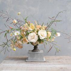 Summer urn arrangement of roses, poppies and seedheads by The Irish Flower Farmer Flower Farmer, Irish Wedding, Urn, Summer Wedding, Flower Arrangements, Poppies, Wedding Flowers, Glass Vase, Bouquet