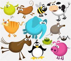 (funny animals) 12652873 stock illustration Funny cartoon animalsl