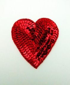 Large Red sequin and bead Hearts Create Your Own, Create Yourself, Sequin Appliques, Hearts, Sequins, Bead, Beads, Pearl, Beaded Necklace