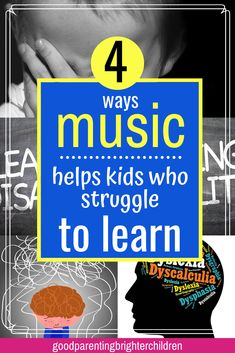 Music can help learning disabilities no matter the types of learning disabilities your child has. Here are 4 music strategies & music activities that will help you child achieve academic success. Music Activities For Kids, Preschool Special Education, Movement Activities, Gifted Education, Music For Kids, Infant Activities, Music Education, Learning Activities, Kids Learning
