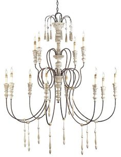 Hannah Chandelier Lighting | Currey & Company
