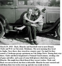 Buck and Blanche friends of Bonnie and Clyde Bonnie And Clyde Tattoo, Bonnie And Clyde Photos, Bonnie Clyde, Bonnie Parker, Vintage Photographs, Vintage Photos, The Babadook, Gangster S, Interesting History