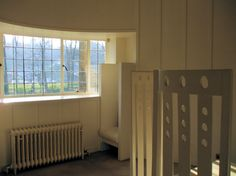 Internal view of bow window at Oval Room of House for an Art Lover