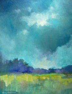 ☼ Painterly Landscape Escape ☼ landscape painting by erin fitzhugh gregory