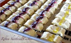 RASPBERRY & LEMON SHORTBREAD RIBBONS » Get Off Your Butt and BAKE!