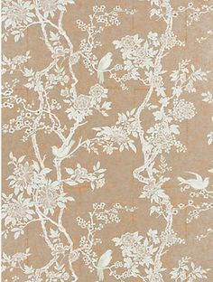 The wallpaper Marlowe Floral Sterling - from Ralph Lauren is wallpaper with the dimensions m x m. The wallpaper Marlowe Floral Sterling - PR Chinoiserie Wallpaper, Bird Wallpaper, Home Wallpaper, Fabric Wallpaper, Botanical Wallpaper, Wallpaper Panels, Kyushu, Dining Room Wallpaper, Hallway Wallpaper