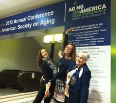 "Life Enrichment and Expressive Arts play an integral role in the aging process.  Here's Gail (Dance and Movement Specialist), Katharine  (Life Enrichment Director) and Mary (an 83 year old resident of Norwood Crossing & a 1,500hrs/year volunteer!) at the Aging in American Conference at Navy Pier in #Chicago.  They were making a presentation titled ""Spotlight on the Arts: Expressive Arts Performances in a Long-Term Care Retirement Community.""   We couldn't ask for a better group to represent…"
