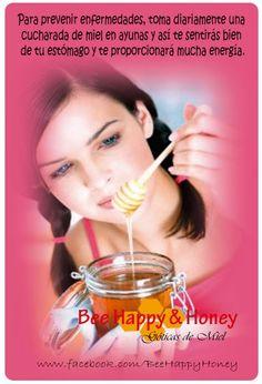 TIPS CON MIEL DE ABEJAS....  Para prevenir enfermedades, toma diariamente una cucharada de miel diaria y así te sentirás bien de tu estómago y te proporcionará mucha energía.   Para prevenir enfermedades, toma diariamente una cucharada de miel diaria y así te sentirás bien de tu estómago y te proporcionará mucha energía.