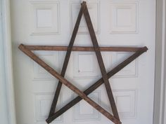 Authenic Tobacco Stick Wooden Star by KGFINDS on Etsy, $25.00