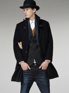 G-Star RAW—Midnight Tuxedo Coat-Men-Jackets