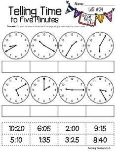 Telling time to the five minutes cut paste math pinterest telling time to the five minutes cut paste ibookread ePUb